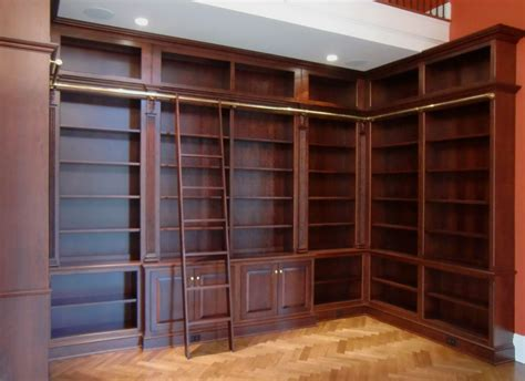 Bookcase With Library Ladder Crafted Library Bookcases With Ladder By Odhner Odhner Woodworking Inc Custommade