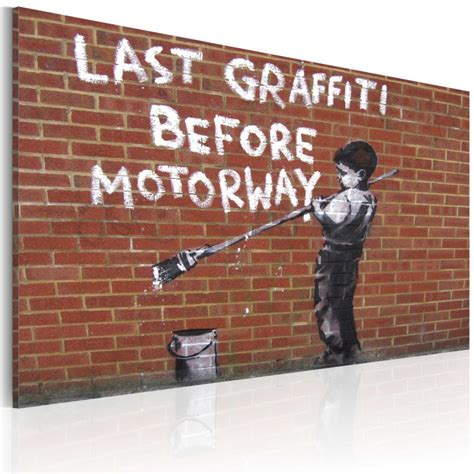 cuadro graffiti cuadro el 250 ltimo graffiti antes de la carretera banksy