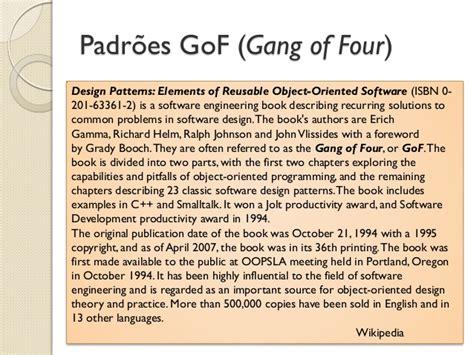 iterator pattern gang of four padr 245 es de projeto de software