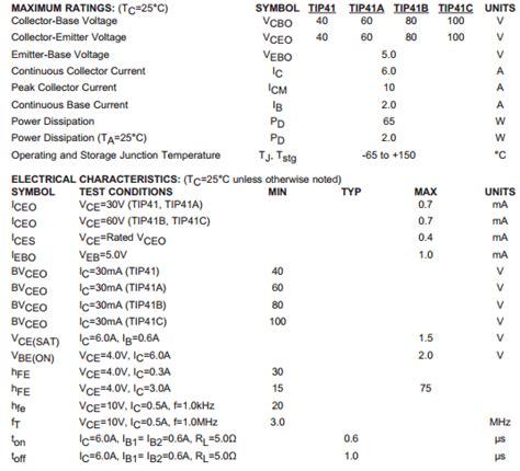 transistor tip41cg transistor tip41cg 26 images tip42cg on semiconductor datasheet pdf datasheetbank tip41cg