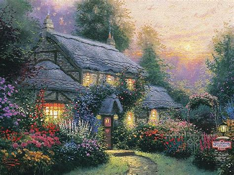 Julianne S Cottage One Of My Favorite Thomas Kinkade Kinkade Cottages