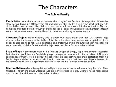 the color purple book character analysis purple hibiscus