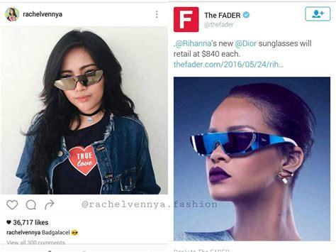 Harga Kacamata Rihanna wow aksesoris selebgram ini mencapai rp 89 juta merahputih