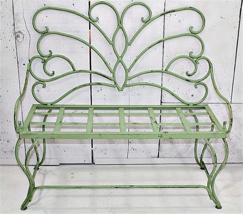 wrought iron butterfly bench wrought iron child s butterfly bench metal seating vintage