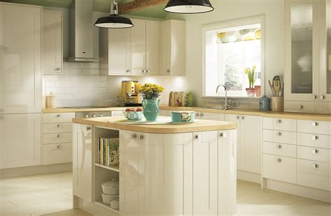 Cream Gloss Kitchen Ideas by Simple Style Cream Kitchens Turin Range Benchmarx