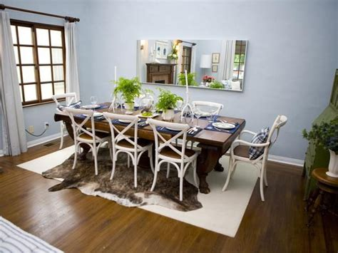 Gray Dining Room Rug Layered Rugs The Light Rug Defines The Space The Top Rug