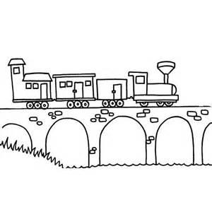 Barney Desenho De Trem Sobre Ponte Para Colorir Tudodesenhos