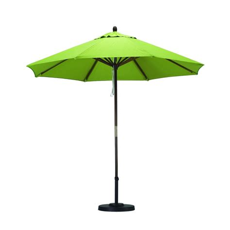 Outdoor Patio Umbrellas Shop California Umbrella Sunline Lime Green Market Patio Umbrella Common 9 Ft W X 9 Ft L