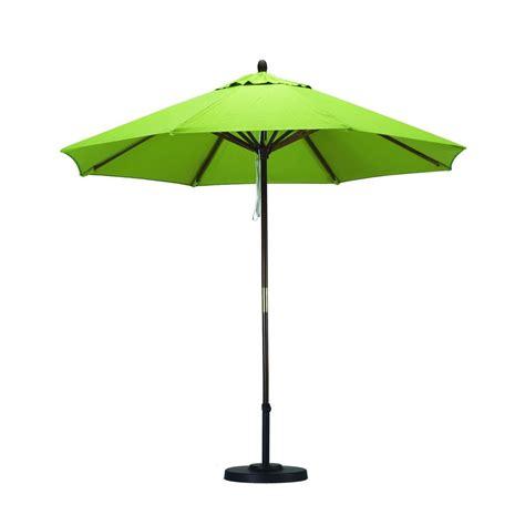 Shop California Umbrella Sunline Lime green Market 9 ft