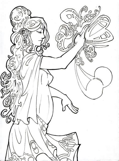 Art Nouveau Coloring Page 187 Coloring Pages Nouveau Coloring Pages