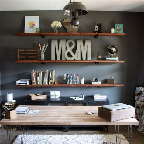 decorate office shelves industrial home office ideas offition