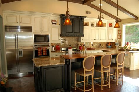 Kitchen Designs With Island Rustic Kitchen Island With Looking Accompaniment