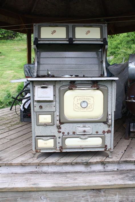 home comfort wood cook stove home comfort cook stove burns coal wood beige ebay
