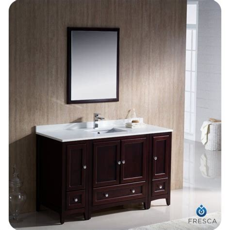 fresca oxford 54 quot bathroom vanity in mahogany fvn20 123012mh
