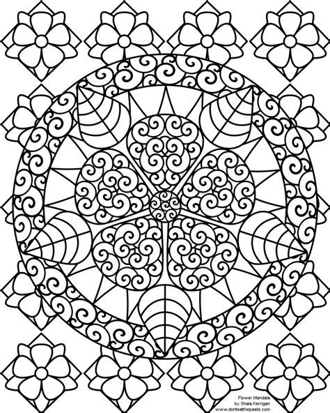 mandala coloring pages of flowers don t eat the paste january 2011