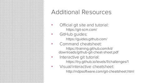 tutorial github pdf git 101 git and github for beginners