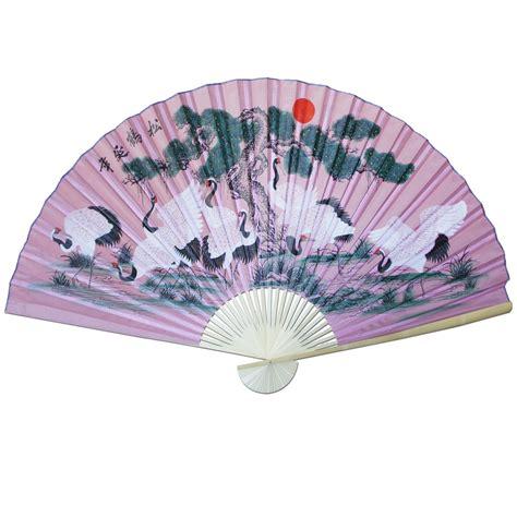 oriental fan wall hanging large 84 quot folding chinese wall fan oriental paper hanging