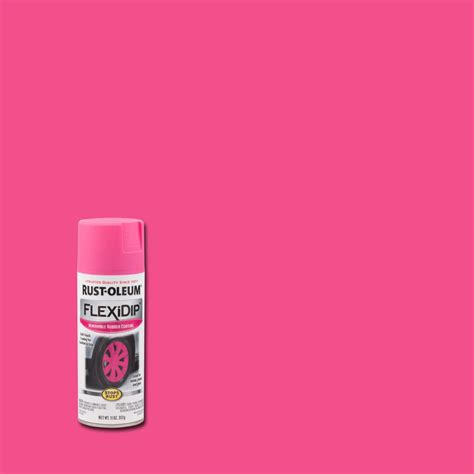 Rust Oleum Flexidip 11 Oz Bright Pink Spray Paint 283178
