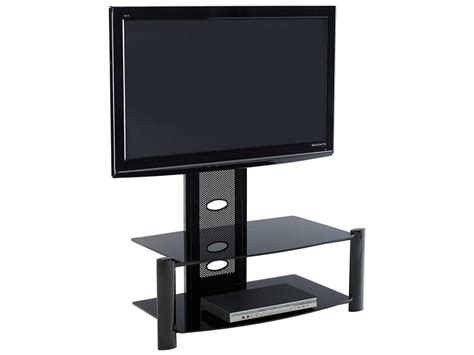 flat screen table stand glass flat screen plasma lcd tv table stand unit with