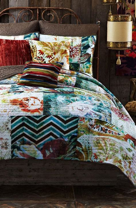 Poetic Wanderlust Quilt by The Mix Of Chevron And Floral Prints Patchwork