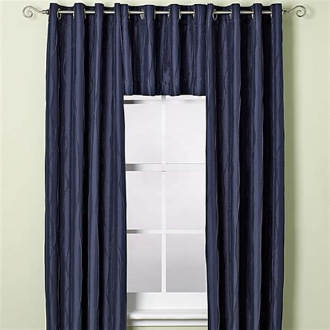navy window curtains buy venice window curtain valance in navy from bed bath