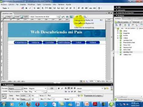 tutorial adobe dreamweaver cap 1 crearsitio avi youtube publicar un sitio web con dreamweaver wmv doovi