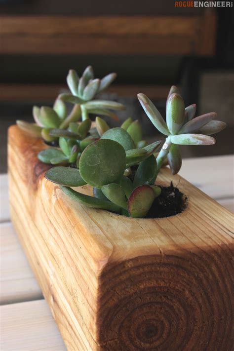 diy succulent planter diy scrap wood succulent planter tutorial rogue engineer