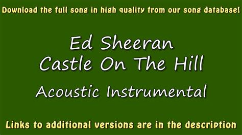 ed sheeran castle on the hill mp3 ed sheeran castle on the hill acoustic karaoke youtube