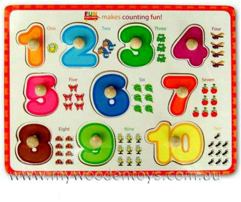 Puzzle Knob Number Type A knob puzzle numbers counting educational at my wooden toys