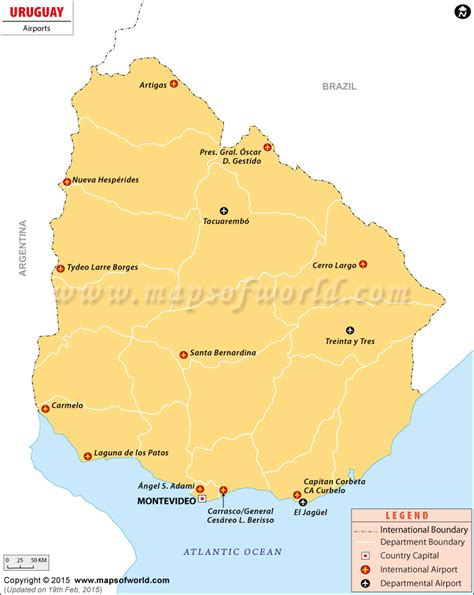 airports in usa map airports in uruguay uruguay airports map