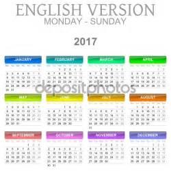 Calendario 2017 Ingles Calendario 2017 En Ingles Blank Calendar Design 2017