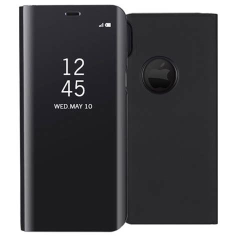Iphone X Mirror iphone x luxury series mirror view flip black