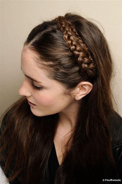 hairstyles with headband braids braided headband hairstyle tutorial fab fashion fix