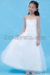 gorgeous long mini wedding dress for kids 1st dress com