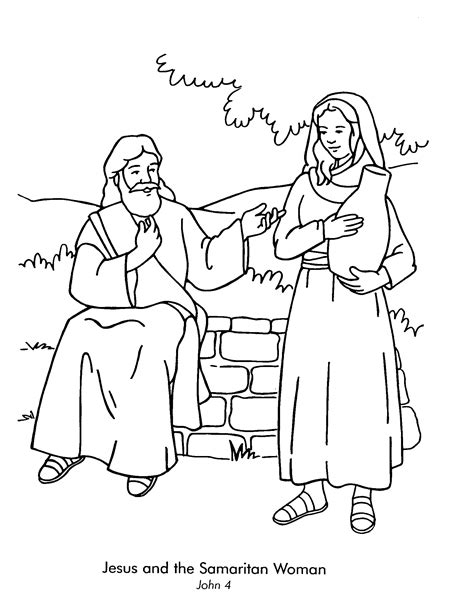 coloring page water well lesson 15 woman at the well john 4 color page of jesus