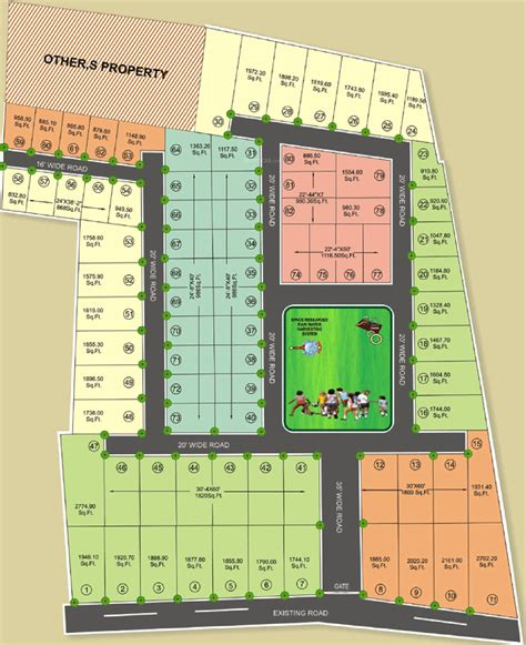 layout plan of karol bagh 865 sq ft plot for sale in govinda housing govind bagh