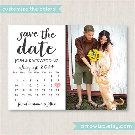 the date calendar card free template secret wedding fusion multicultural interfaith