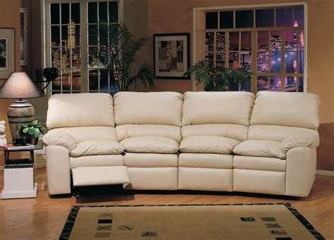 4 Seat Leather Reclining Sofa Thesofa 4 Seat Leather Reclining Sofa