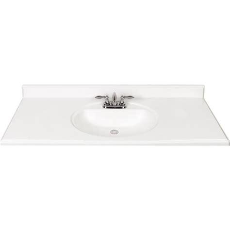 49x22 bathroom vanity top shop white cultured marble integral bathroom vanity top common 49 in x 22 in actual 49 in x