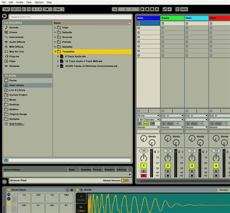 Ableton Multiple Default Templates Folder The Second Spirit Ableton Set Default Template