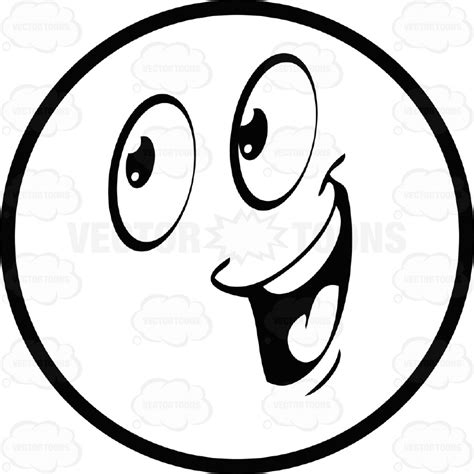 Smile White large eyed black and white smiley emoticon with