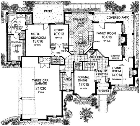 european style floor plans european style house plan 4 beds 4 baths 3062 sq ft plan