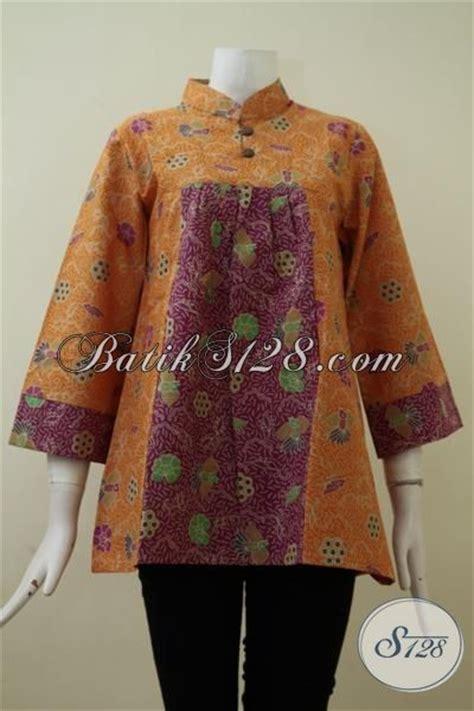 Dress Sl Pakaian Wanita Dress Warna Merah Kombi Bunga 64t4 baju blus batik kombinasi warna merah dan kuning trendy