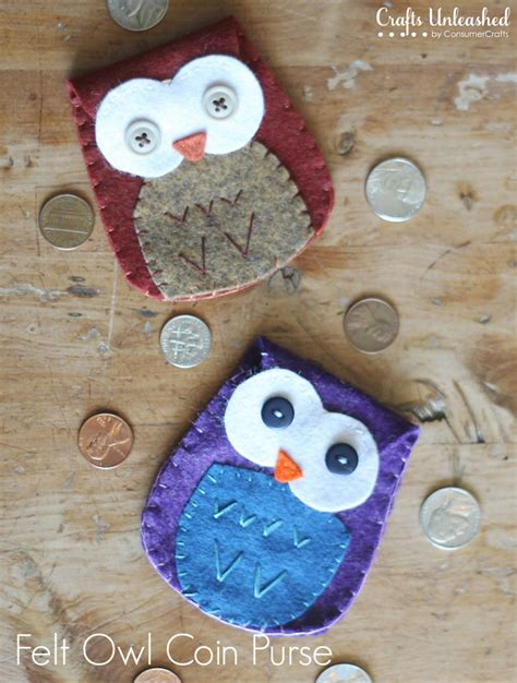 free crafts to make felt owl coin purse tutorial free pattern crafts unleashed