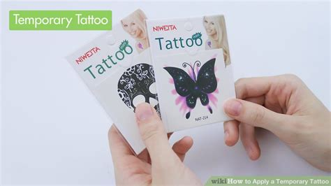 tattoo apply how to apply a temporary tattoo 15 steps with pictures