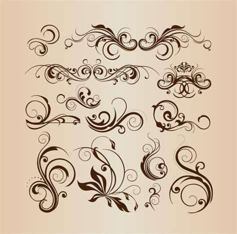 decorative design elements vector vector collection of design floral decorative elements