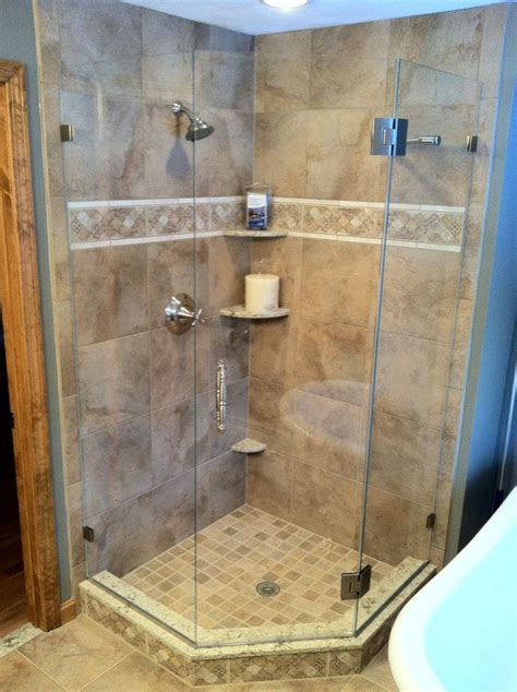 corner glass shower luxury showers