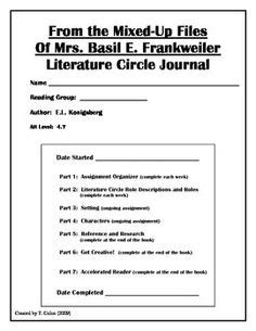 Literature circles, Comprehension questions and Basil on