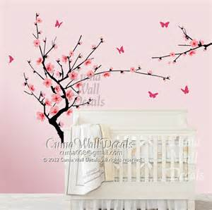 cherry blossom wall decal butterfly wall decals nursery by cherry blossom wallpaper for home galleryhip com the