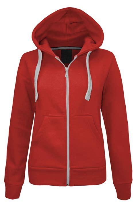 Vest Zipper Hoodie As Roma 1 new womens plain zip hoodie sweatshirt fleece